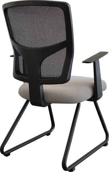 Cadeira Escritório Fixa Ergonômica Encosto Em Tela