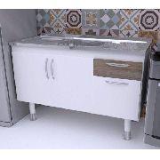 Balcão Gabinete para pia de cozinha 1,50m SLIM