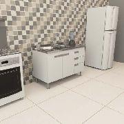 Gabinete De Cozinha Branco para Pia de 2 mts San Marino