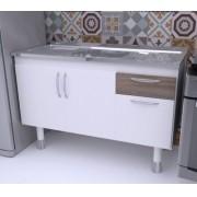 Balcão de Cozinha em MDF para Pia 1,20m SLIM Carvalho