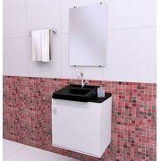 Gabinete para Banheiro completo ROMA 050cm PRETO