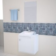 Gabinete para Banheiro completo ROMA 50CM BRANCO
