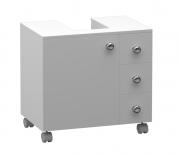 Gabinete para Banheiro em MDF com 3 Gavetas 1 Porta encaixe Coluna