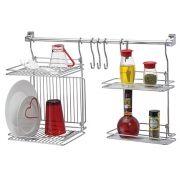 Kit Organizador Para Cozinha Escorredor e Prateleira