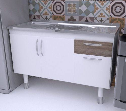 Balcão Gabinete para pia de cozinha 1,50m SLIM  - Loja de Móveis e Artigos para Decoração | TudoParaDecorar.com.br