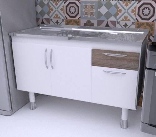 Balcão de Cozinha em MDF para Pia 1,50m SLIM  - Loja de Móveis e Artigos para Decoração   TudoParaDecorar.com.br