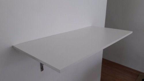 Mesa De Parede Dobrável 90x45cm Branco  - Loja de Móveis e Artigos para Decoração | TudoParaDecorar.com.br
