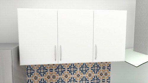 Armários Suspenso Para Cozinha Primolar 1,20m Branco  - Loja de Móveis e Artigos para Decoração | TudoParaDecorar.com.br