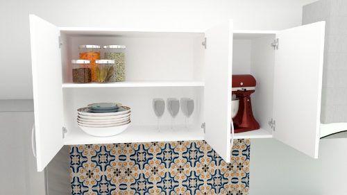 Armários Suspenso Para Cozinha Primolar 1,00m Branco  - Loja de Móveis e Artigos para Decoração | TudoParaDecorar.com.br