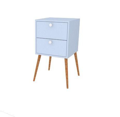 Gaveteiro Criado Mudo Azul 35x35 Retrô  - Loja de Móveis e Artigos para Decoração | TudoParaDecorar.com.br
