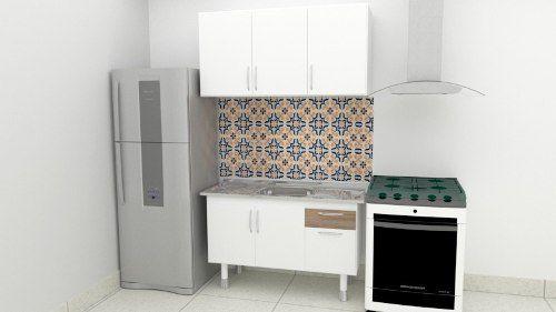 Gabinete Balcão Com Armário Suspenso Para Cozinha 1,20m  - Loja de Móveis e Artigos para Decoração | TudoParaDecorar.com.br