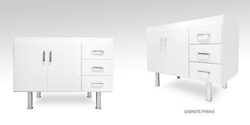 Gabinete Balcão Com Pia Inox Cozinha 1.20 M Branco  - Loja de Móveis e Artigos para Decoração | TudoParaDecorar.com.br