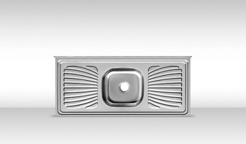 Pia De Cozinha Aço Inox 1m Monobloco Reforçada  - Loja de Móveis e Artigos para Decoração | TudoParaDecorar.com.br