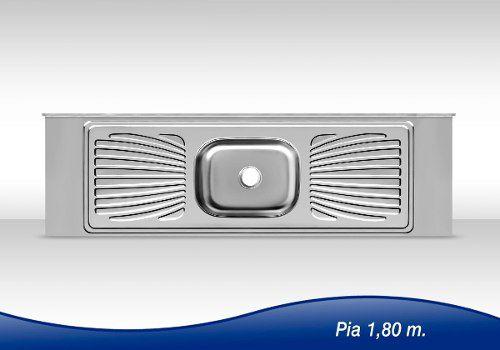 Pia De Cozinha Aço Inox 1,80m Monobloco Reforçada  - Loja de Móveis e Artigos para Decoração   TudoParaDecorar.com.br