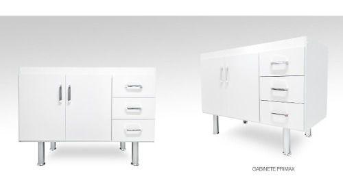 Gabinete Para Pia Cozinha 2.00 Metro Primolar Branco  - Loja de Móveis e Artigos para Decoração | TudoParaDecorar.com.br