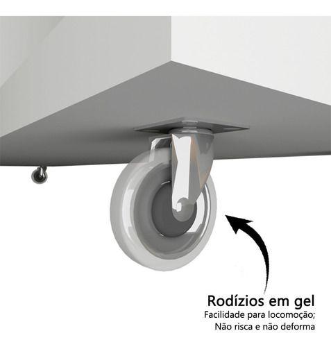 Armário Multiuso Baixo com Rodízio 2 Portas  em MDF  - Loja de Móveis e Artigos para Decoração | TudoParaDecorar.com.br