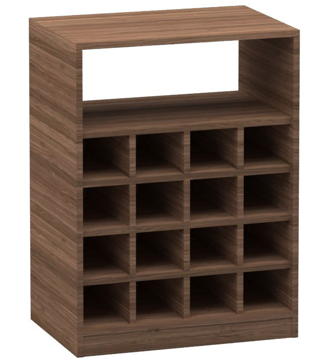 Adega Decorativa em MDF Style para 16 Garrafas 74x55x37cm  - Loja de Móveis e Artigos para Decoração | TudoParaDecorar.com.br