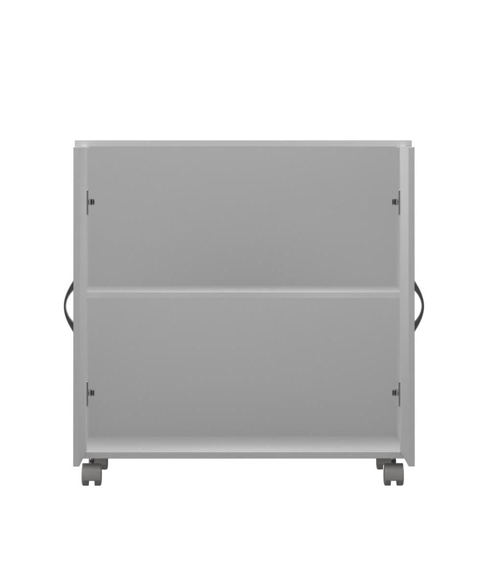 Armário Multiuso Baixo  2 Portas com Rodízio em MDF  - Loja de Móveis e Artigos para Decoração | TudoParaDecorar.com.br
