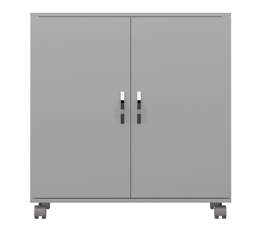 Armário Baixo  2 Portas com Rodízio em MDF  - Loja de Móveis e Artigos para Decoração | TudoParaDecorar.com.br