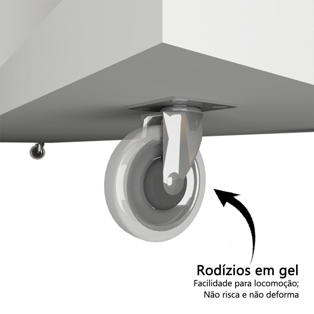 Armário Baixo Multiuso em MDF com 2 Portas Rodizio COR BRANCO  - Loja de Móveis e Artigos para Decoração | TudoParaDecorar.com.br