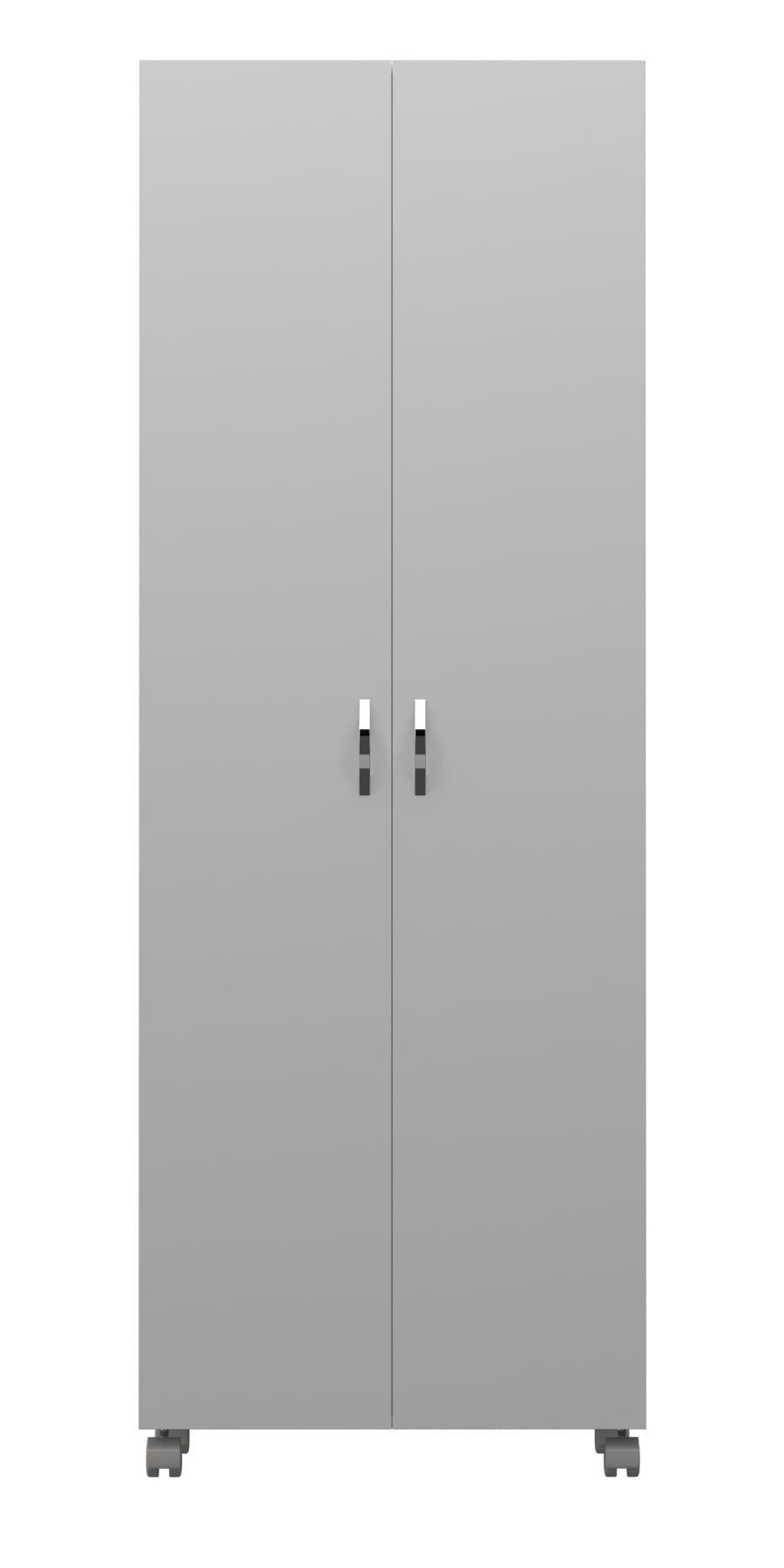 Armário Multiuso em MDF para Área de Serviço 2 Portas com Rodízio   - Loja de Móveis e Artigos para Decoração   TudoParaDecorar.com.br