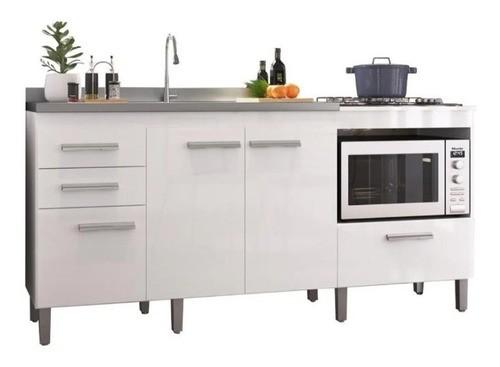 Balcão de Cozinha em MDF para Pia, Forno e Cooktop 1,80m Branco  - Loja de Móveis e Artigos para Decoração | TudoParaDecorar.com.br