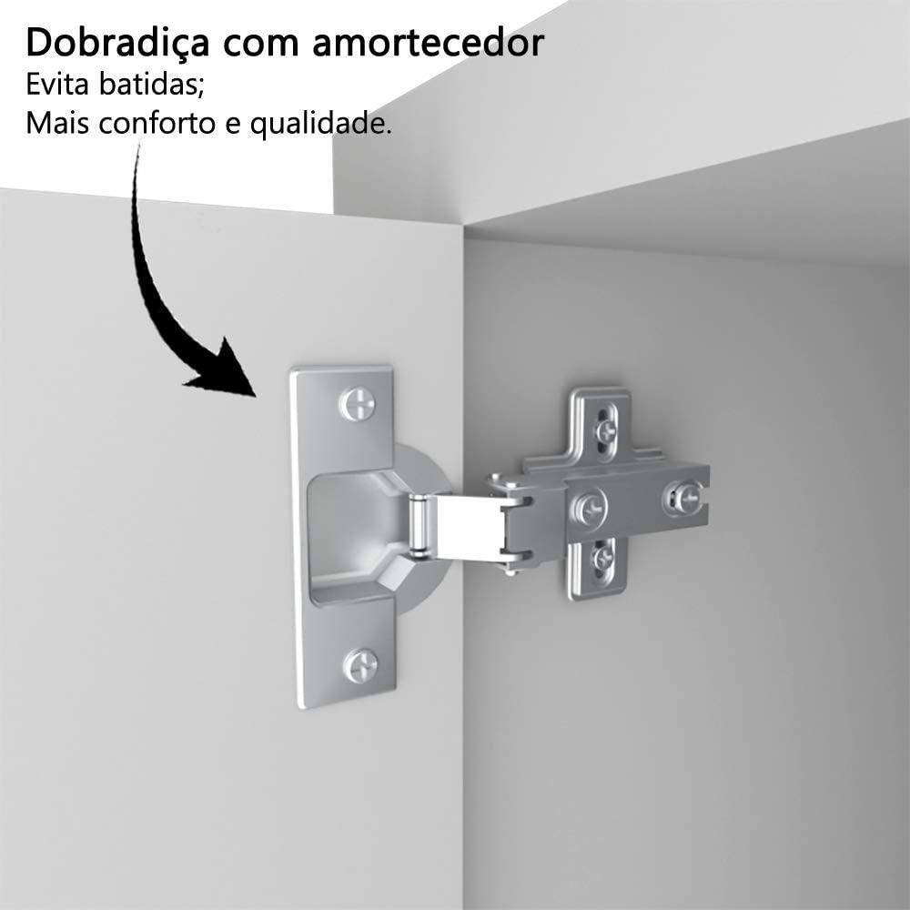 Balcão Gabinete Cozinha Com Pia De Inox 1,20 M Branco  - Loja de Móveis e Artigos para Decoração | TudoParaDecorar.com.br
