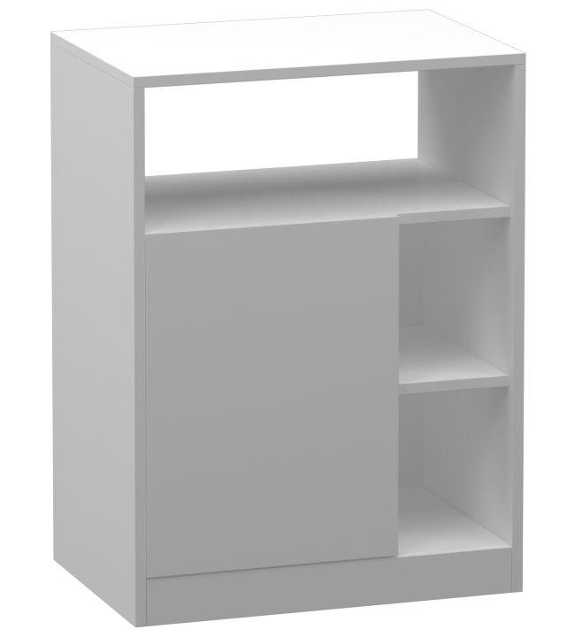 Balcão em MDF com 1 Porta 2 Divisórias 74x55x37CM  - Loja de Móveis e Artigos para Decoração | TudoParaDecorar.com.br