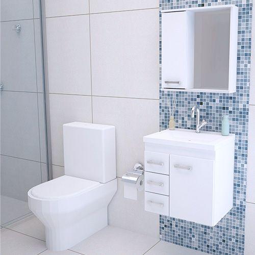 Gabinete para Banheiro em MDF Completo 50CM  - Loja de Móveis e Artigos para Decoração   TudoParaDecorar.com.br