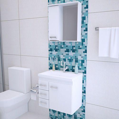 Armário Gabinete Banheiro Completo 60CM  - Loja de Móveis e Artigos para Decoração | TudoParaDecorar.com.br