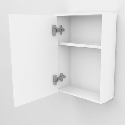 Armário Espelheira Banheiro 1 Porta MODENA 40CM BRANCO  - Loja de Móveis e Artigos para Decoração | TudoParaDecorar.com.br