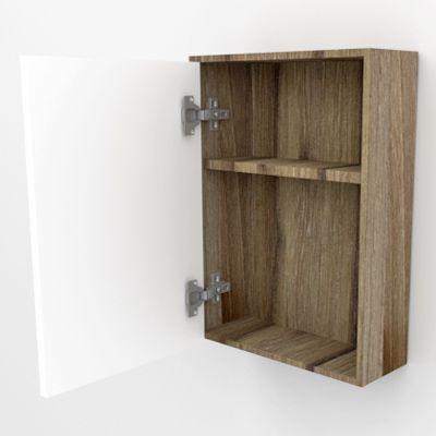 Armário Espelheira Banheiro 1 Porta MODENA 40CM CARVALHO  - Loja de Móveis e Artigos para Decoração | TudoParaDecorar.com.br