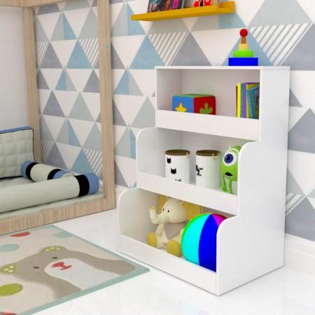 Estante Toystante 86X65 com 3 Nichos   - Loja de Móveis e Artigos para Decoração | TudoParaDecorar.com.br