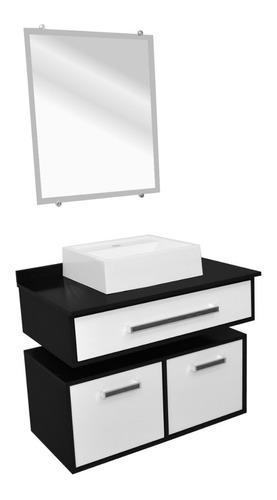 Gabinete Para Banheiro Em Mdf 60cm Completo  - Loja de Móveis e Artigos para Decoração | TudoParaDecorar.com.br