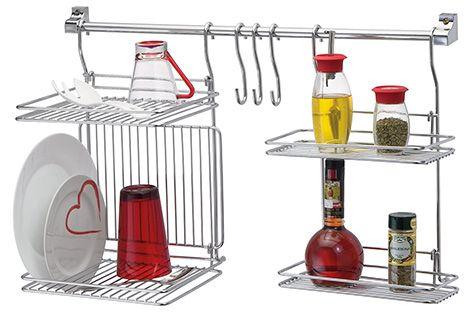 Kit Organizador Para Cozinha Escorredor e Prateleira  - Loja de Móveis e Artigos para Decoração | TudoParaDecorar.com.br
