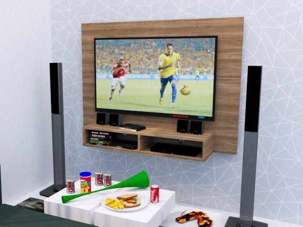 Painel para TV até 48 Polegadas 2 Nichos 120x90CM  - Loja de Móveis e Artigos para Decoração | TudoParaDecorar.com.br