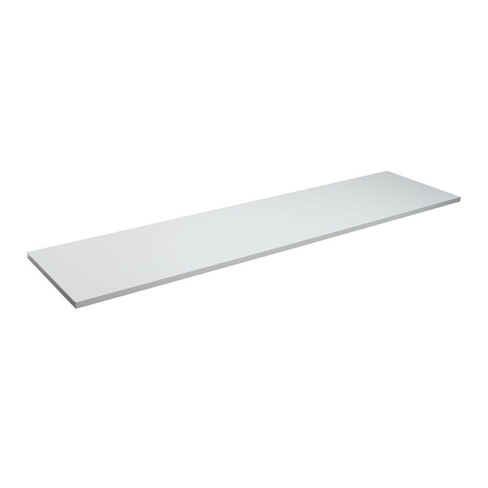 Prateleira MDF Branca Borda Reta sem Suporte MDP - 30x120x1,5cm   - Loja de Móveis e Artigos para Decoração | TudoParaDecorar.com.br