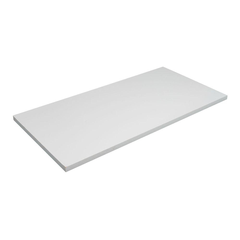 Prateleira MDF Branca Borda Reta sem Suporte - 30x60x1,5cm  - Loja de Móveis e Artigos para Decoração | TudoParaDecorar.com.br