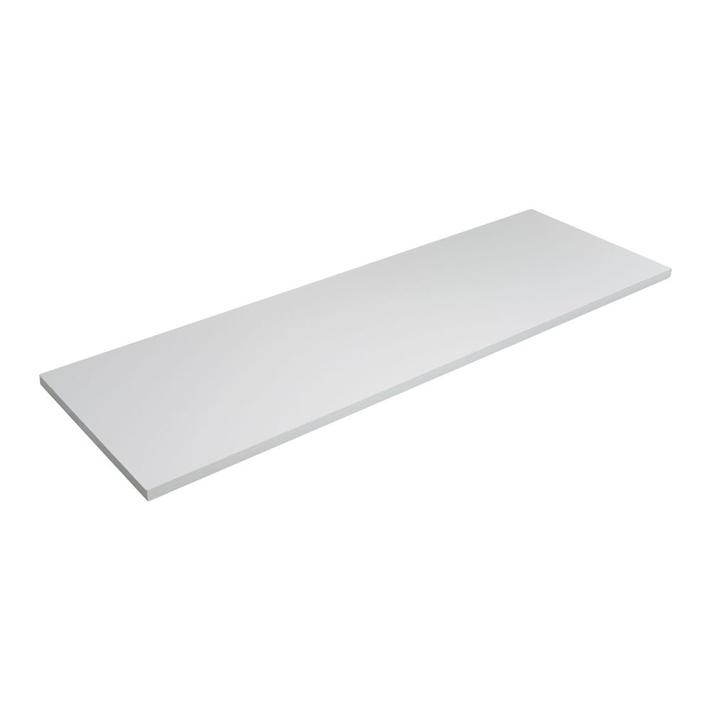 Prateleira MDF Branca Borda Reta sem Suporte MDP - 30x90x1,5cm  - Loja de Móveis e Artigos para Decoração | TudoParaDecorar.com.br
