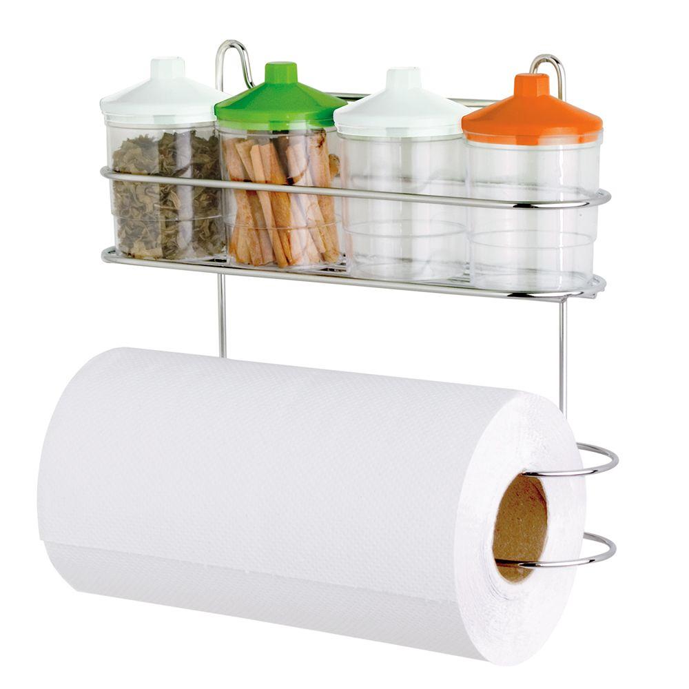 Suporte Para Cozinha Com Porta Temperos e Porta Rolo  - Loja de Móveis e Artigos para Decoração | TudoParaDecorar.com.br