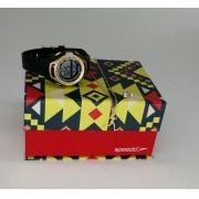 476a2061cce KIT Relógio Speedo Preto com Dourado Feminino 80612L0EVNP1 -BRINDE