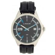 e1808fb3d60 Relógio Lince Masculino Aço Prata Visor Preto Pulseira Couro MRC4361S P2PX