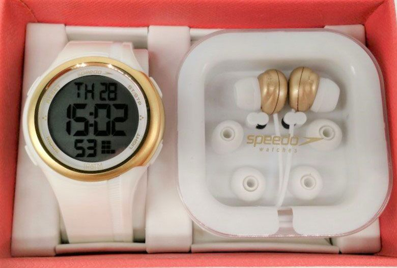 efddc1b59ec KIT Relógio Speedo Branco com Dourado Feminino 80587L0EVNP1 BRINDE ...