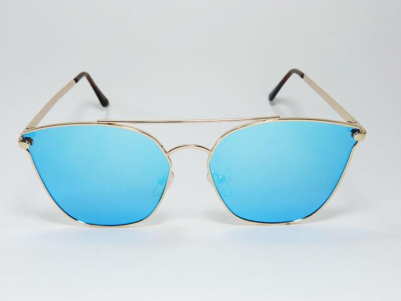 12b51fba49071 Óculos de Sol Feminino VEZATTO Espelhado Azul H01505 C3 - VEZATTO