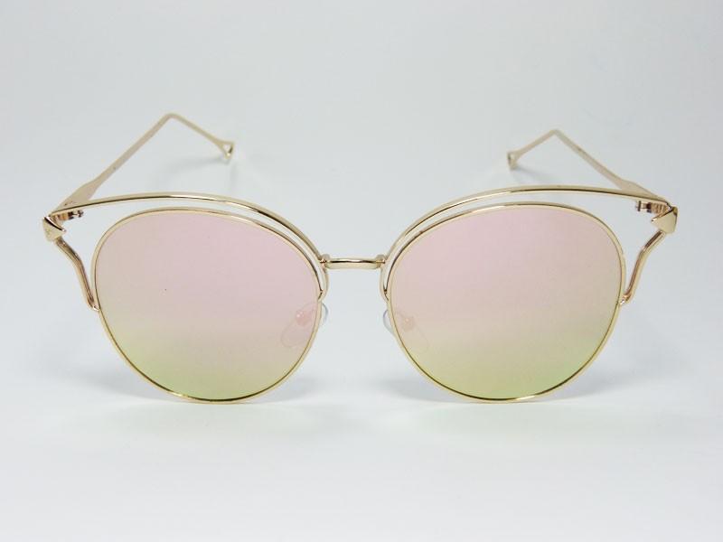 c93316104b199 Óculos de Sol Feminino VEZATTO Espelhado Rosa H01576 C4 - VEZATTO