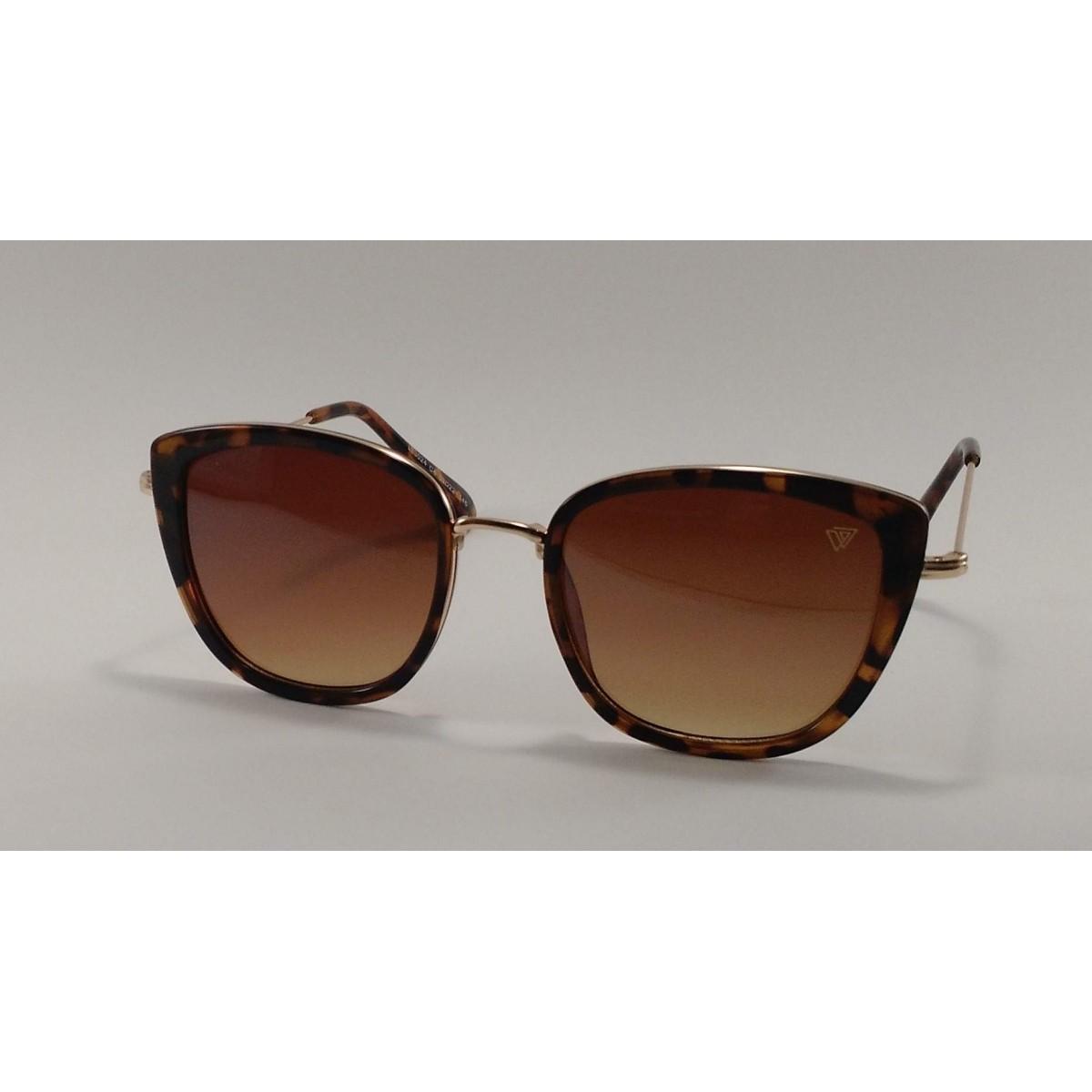 802352a2aabb0 Óculos de Sol Feminino VEZATTO Marrom Acetato E Metal LL3024 - VEZATTO