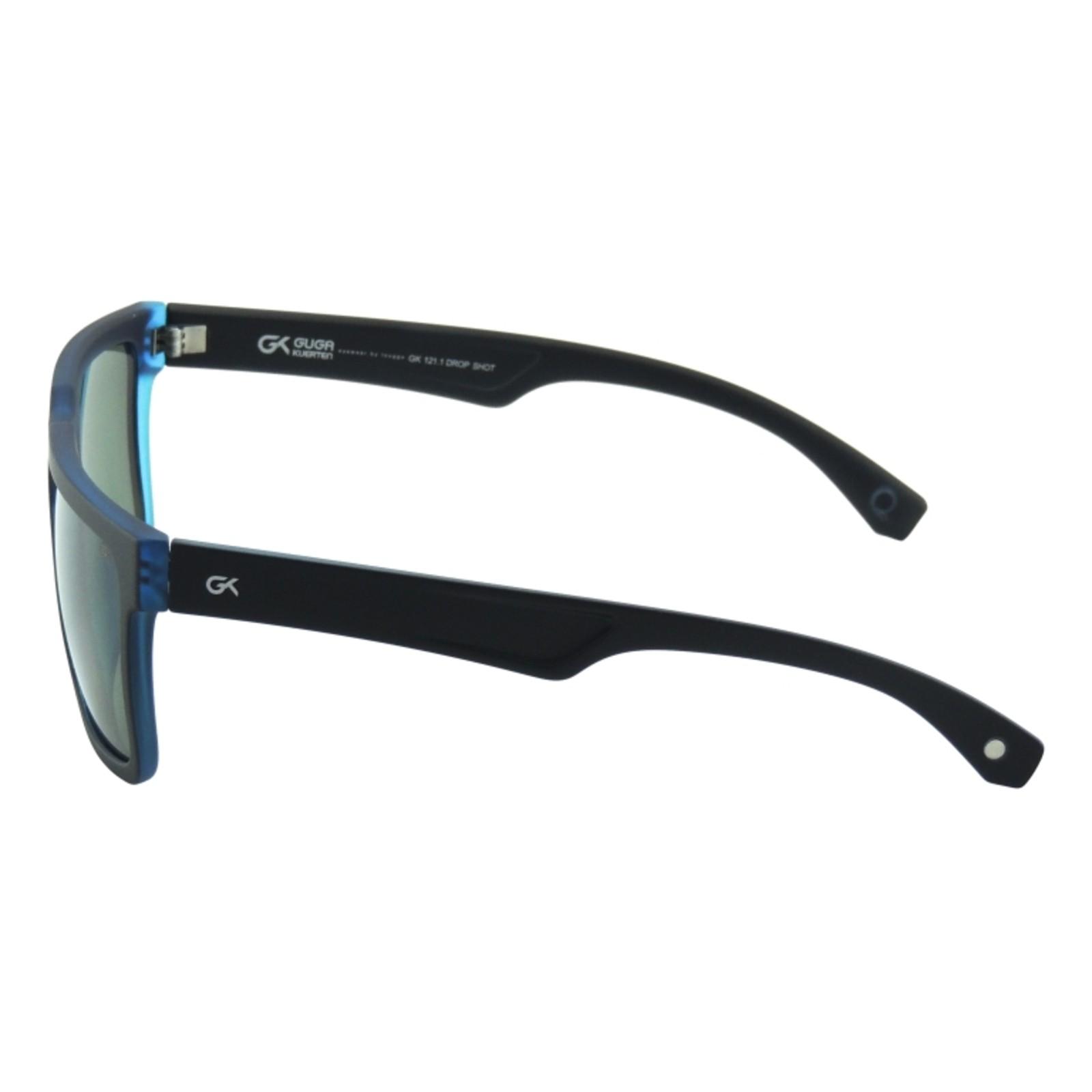 9de239f7533b6 ... Óculos de Sol Masculino GUGA KUERTEN Acetato Preto Azul Drop Shot  GK121.1