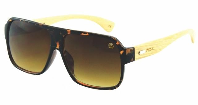 4bfba01f49bf0 Óculos de Sol Masculino GUGA KUERTEN Bambu Marrom Master GK95.2 ...