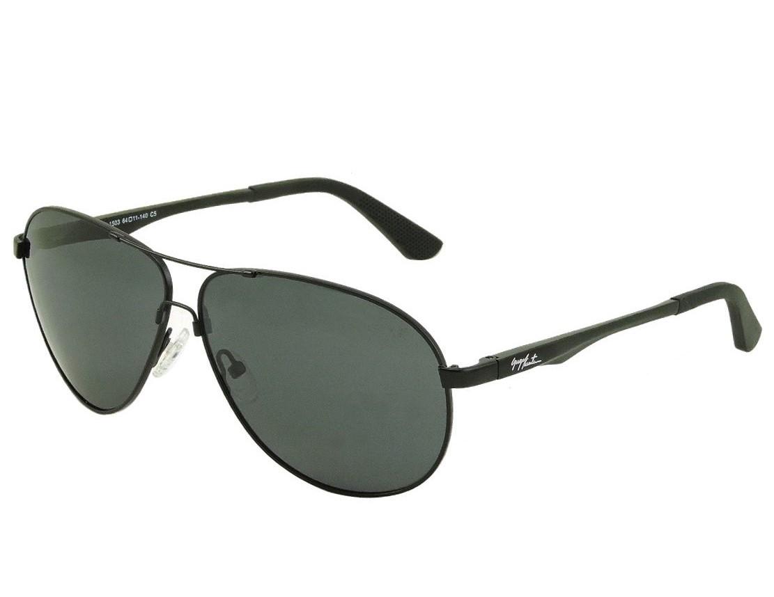 Óculos de Sol Masculino GUGA KUERTEN Flexivel Metal Preto Polarizado  GK1133.2 2f9adffd81