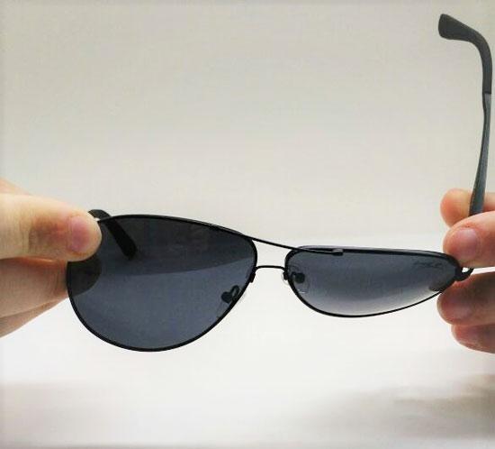 5bf53a46fd0bb ... Óculos de Sol Masculino GUGA KUERTEN Flexivel Metal Preto Polarizado  GK1133.2